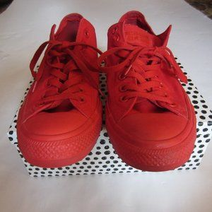 All RED Converse Sneakers. Like New Men's Size 11